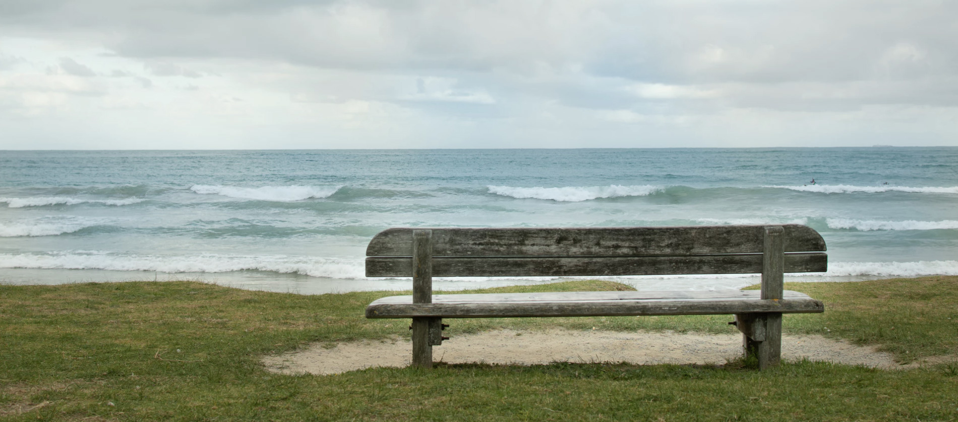 A bench on a seaside