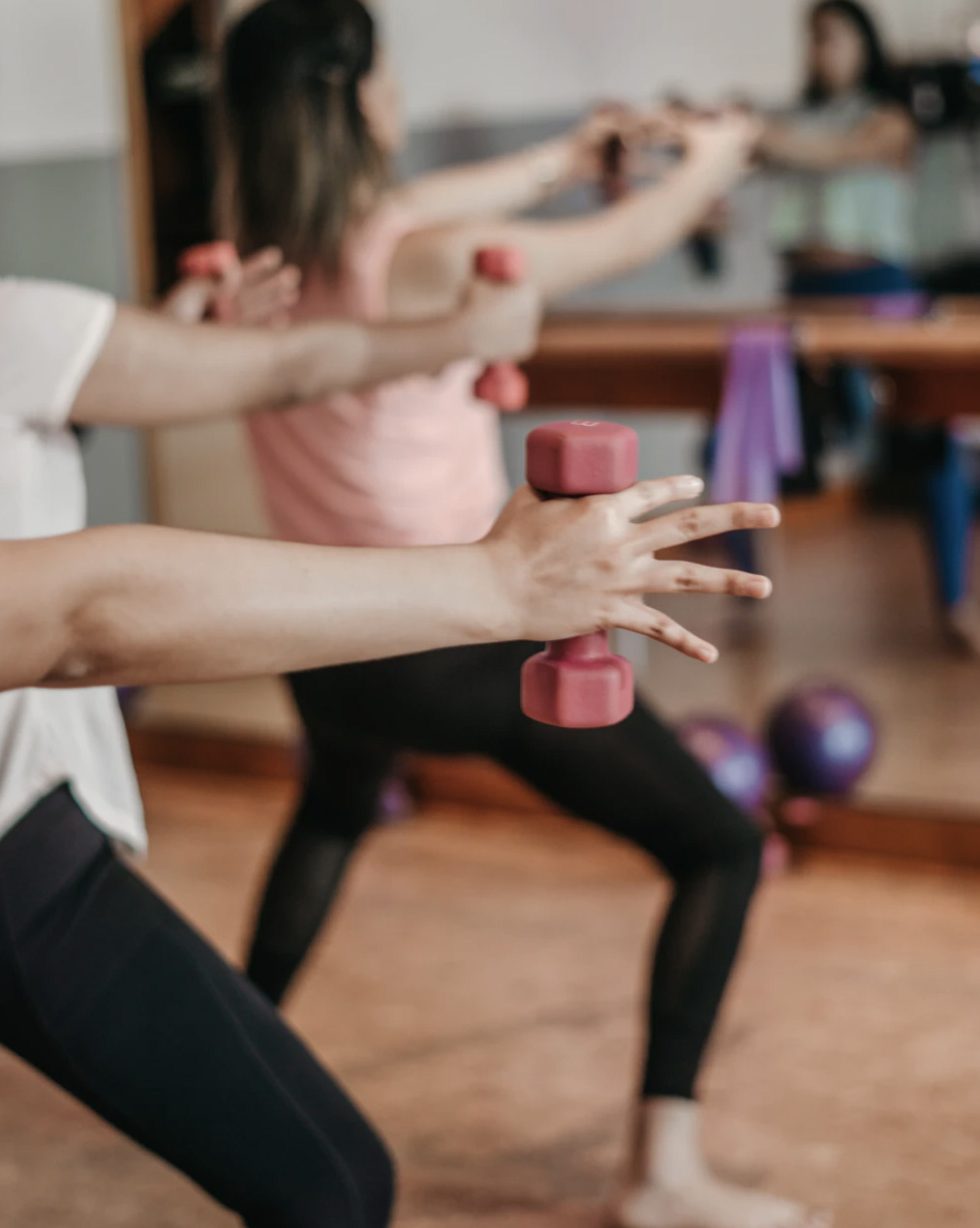 Barre class with weights group class