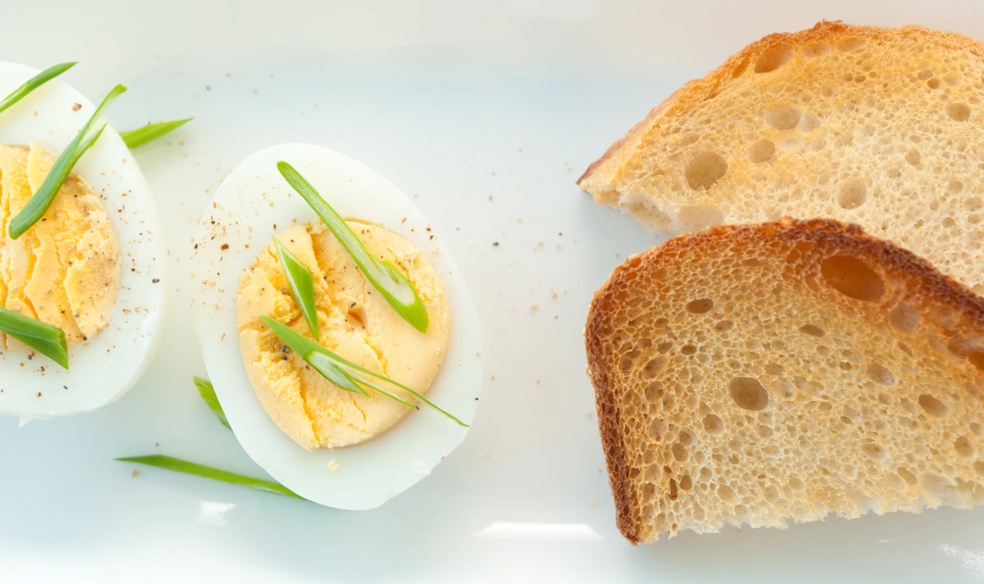 A plate with a piece of toast and an egg