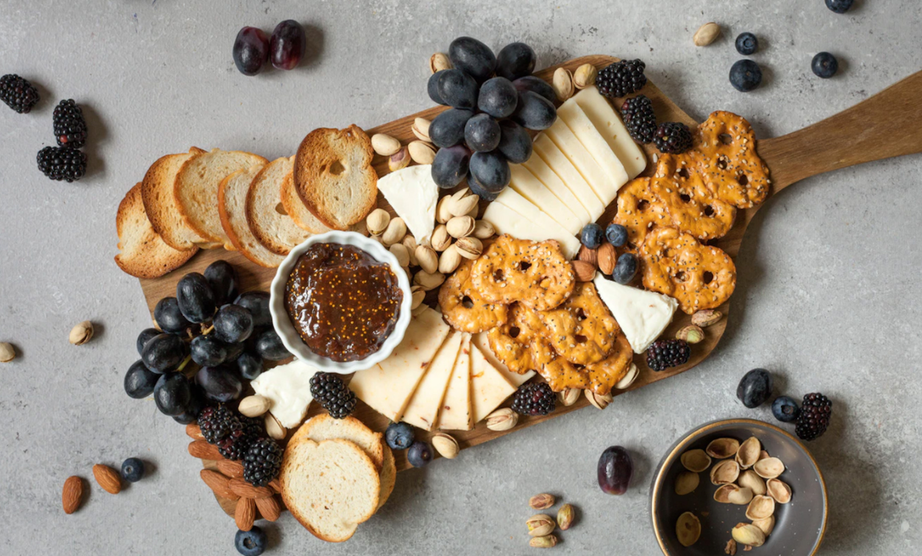 Cheese board with crackers Unsplash - Lindsay Moe